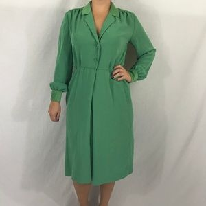 70s Does 40s Vintage Shirt Dress